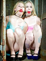 The Flesh Circus is in town. Tracey Sweet and Sarah Jane Ceylon present themselves, bare naked and bound, for your enjoyment. The bondage, humiliations and sexual depredation keep getting more intense. It starts off with hand and neckcuffs, open-mouthed g