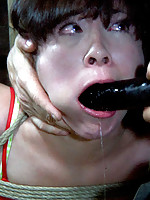 For some reason Nyssa Nevers cannot make up her mind. She screams every time PD hits her and filling her with cock does not work either.