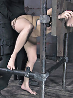 PD broke out his bitch cage again to teach this cunt vikki how to be polite. He washes her mouth out with cock and then the lessons start. She needs to learn to say