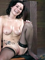 Veruca James is one of the best cock suckers in the world. She has no trouble deep throating all 10 inches of jackhammer. Or at least she wouldn't if she wasn't strapped down to the most powerful vibrator money can buy. Her skills are put to the test as t