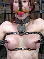 PD has a device for every occasion. When he has a bitch that needs to have all her holes filled he has a great way to keep her in position. Her face and pussy are right at cock level and if she doesn�t want to do the work, the entire apparatus rocks for