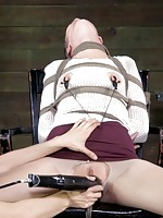 Bonnie Day is a veteran of the BDSM lifestyle. She has been doing this at home for 3 years, but we've brought her to the screen to share exactly how hot this sexy little slut is. She likes tight confinement, power exchange, and the feeling of being helple